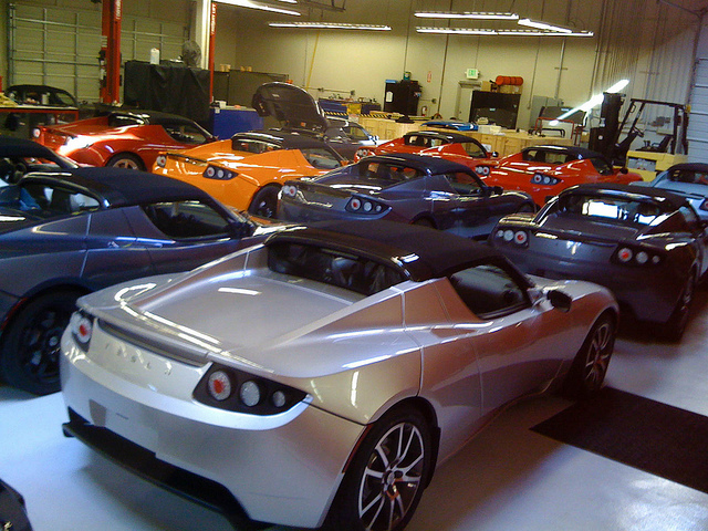 A dealership full of cars