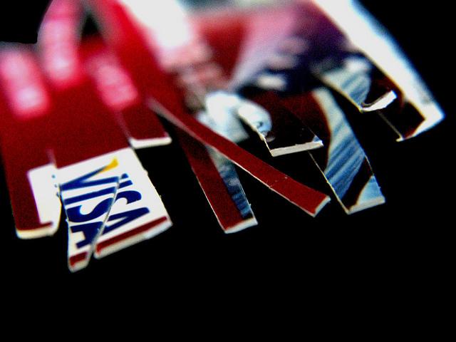 A shredded credit card